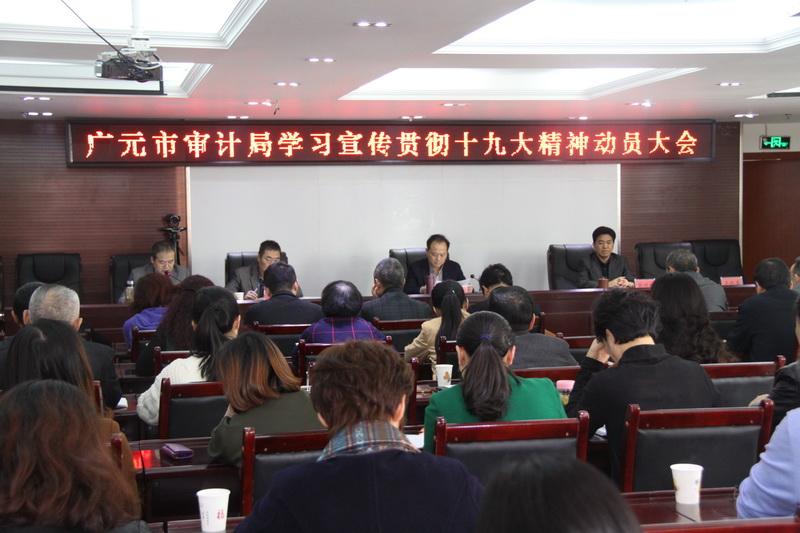 广元市审计局召开学习宣传贯彻十九大精神动员大会