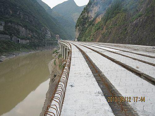 广元政府网-广陕高速公路沙河特大桥桥面顺利贯通