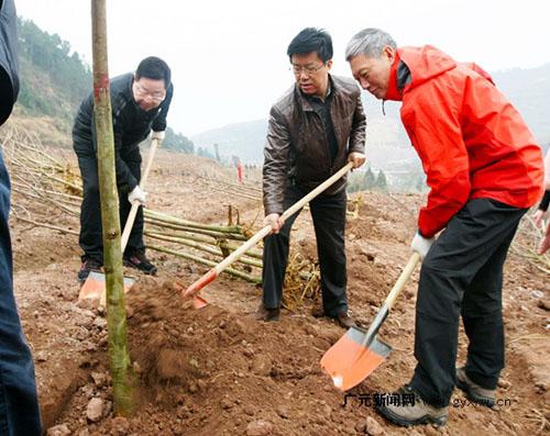 景等参加春季义务植树
